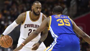 Finale NBA Golden State-Cleveland, le 7 juin 2017.