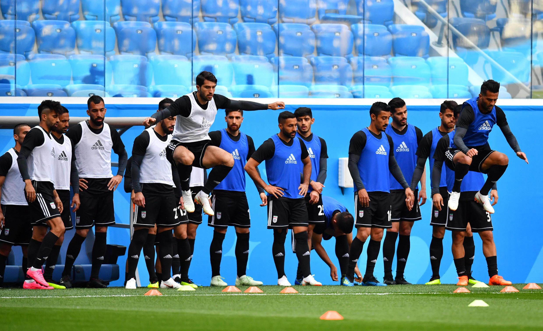 تمرین تیم ملی ایران در سنت پترزبورگ