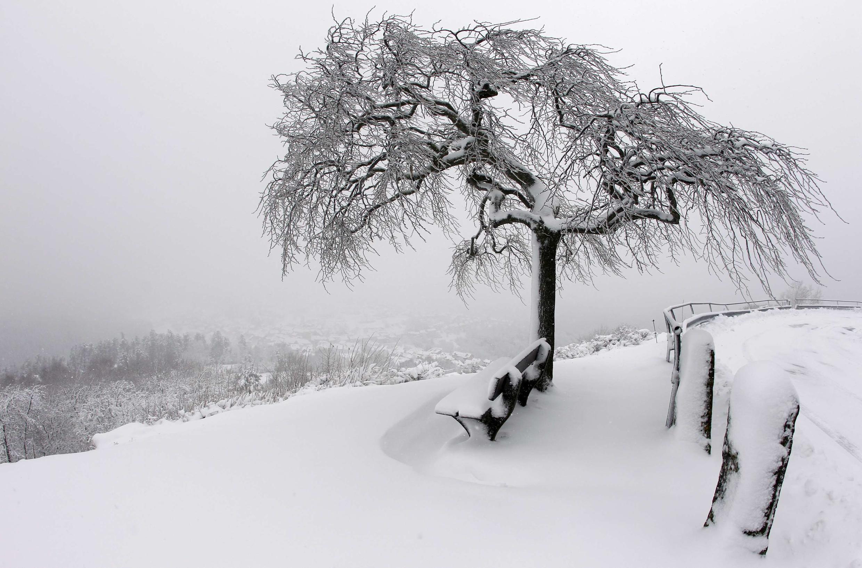 Na França, a onda de frio já causa transtornos em diversas cidades.