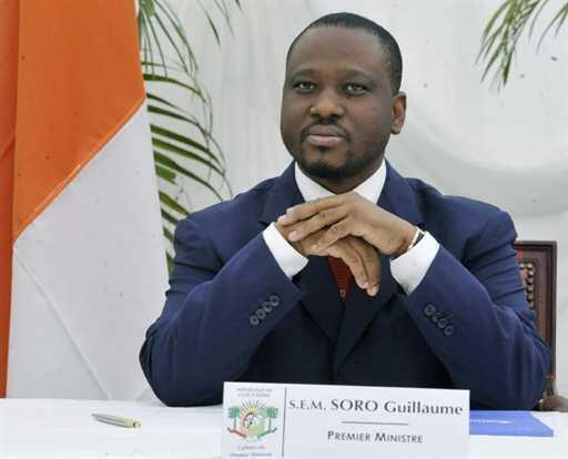 Guillaume Soro, Premier ministre d'Alassane Ouattara, le 6 décembre à l'hôtel du Golf d'Abidjan.