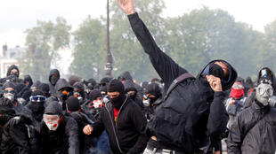 Black Block demonstrators confront police on this week's May Day demonstration in Paris