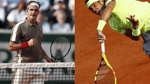 Roger Federer (left) will play Rafael Nadal for the 39th time in 15 years.