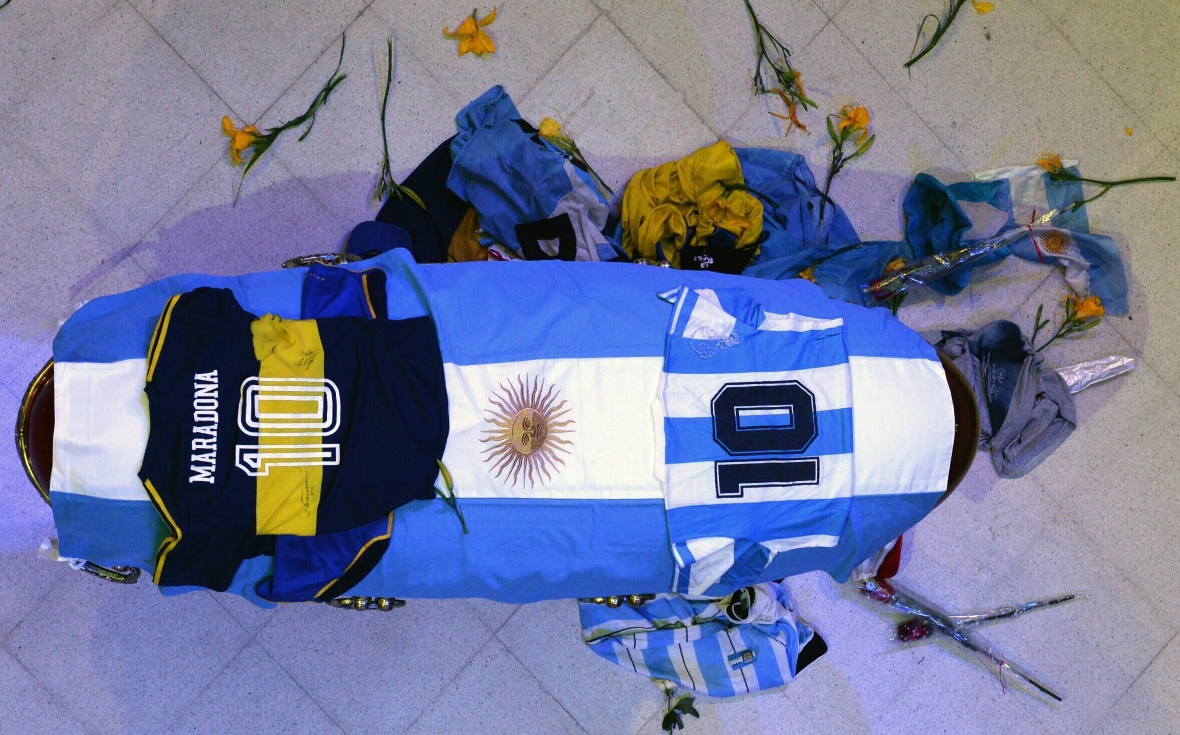 Funeral de Diego Armando Maradona a 26 de Novembro de 2020.
