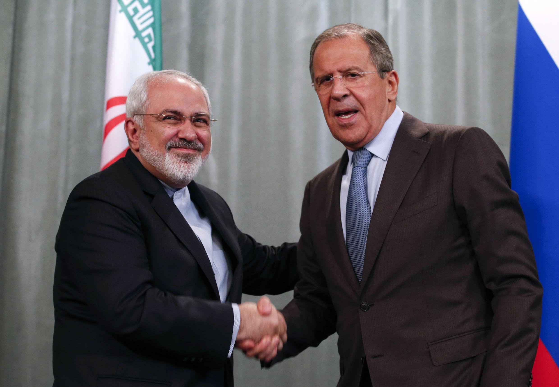 Ngoại trưởng Iran Mohammad Javad Zarif và người đồng nhiệm Nga Sergei Lavrov tại Matxcơva, 29/08/2014.
