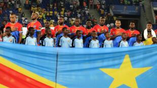 L'équipe de RDC lors de la CAN 2017.