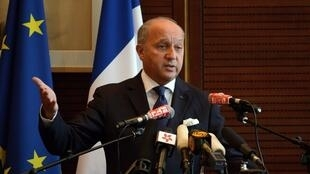 Foreign Minister Laurent Fabius in Beijing on September, 15, 2013