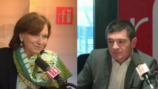 Laurence Rossignol et Benoist Apparu, invités de Mardi Politique le 8 décembre 2015.