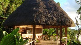 Une paillotte de Yachana en Equateur.