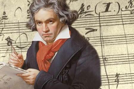 Nhạc sĩ Beethoven.