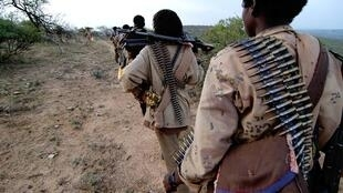 Une colonne de rebelles du Front national de libération de l'Ogaden (ONLF) (image d'archives)