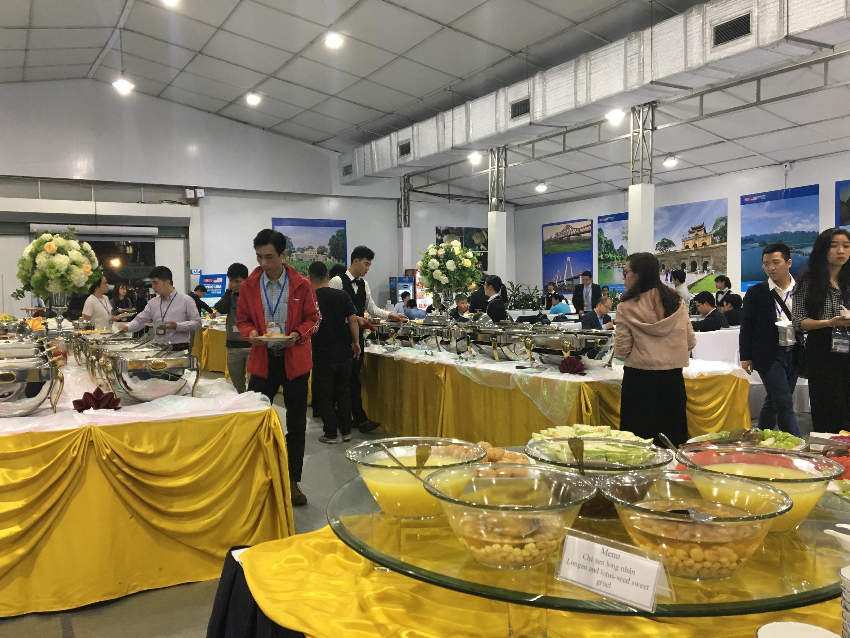 Phòng ăn buffet phục vụ phóng viên nước ngoài tại thượng đỉnh Trump-Kim, ngày 27-28/02/2019.