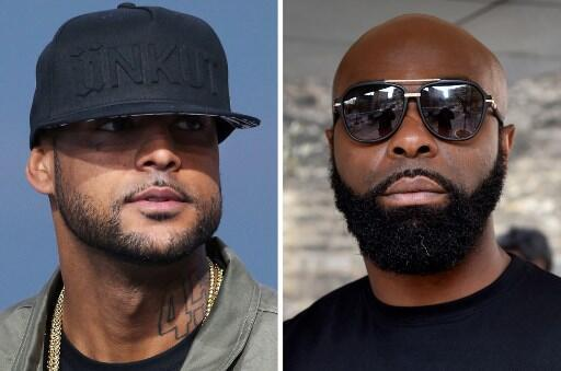French rappers Kaaris (l) and Booba (r)
