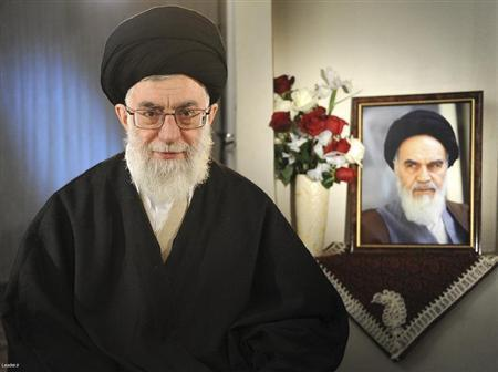 Ayatollah Ali Khamenei, guia suprêmo da Revolução islâmica