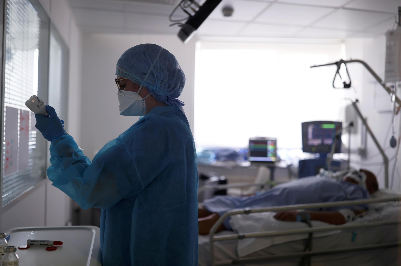 Một phòng hồi sức tích cực bệnh nhân Covid-19 tại Strasbourg ngày 17/04/2020.
