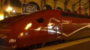 Un train Thalys en gare.