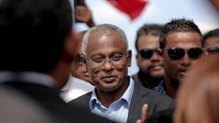 Ibrahim Mohamed Solih, président des Maldives, le 4 octobre 2018.