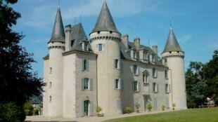 Le chateau de Nexon côté jardin (photo originale).