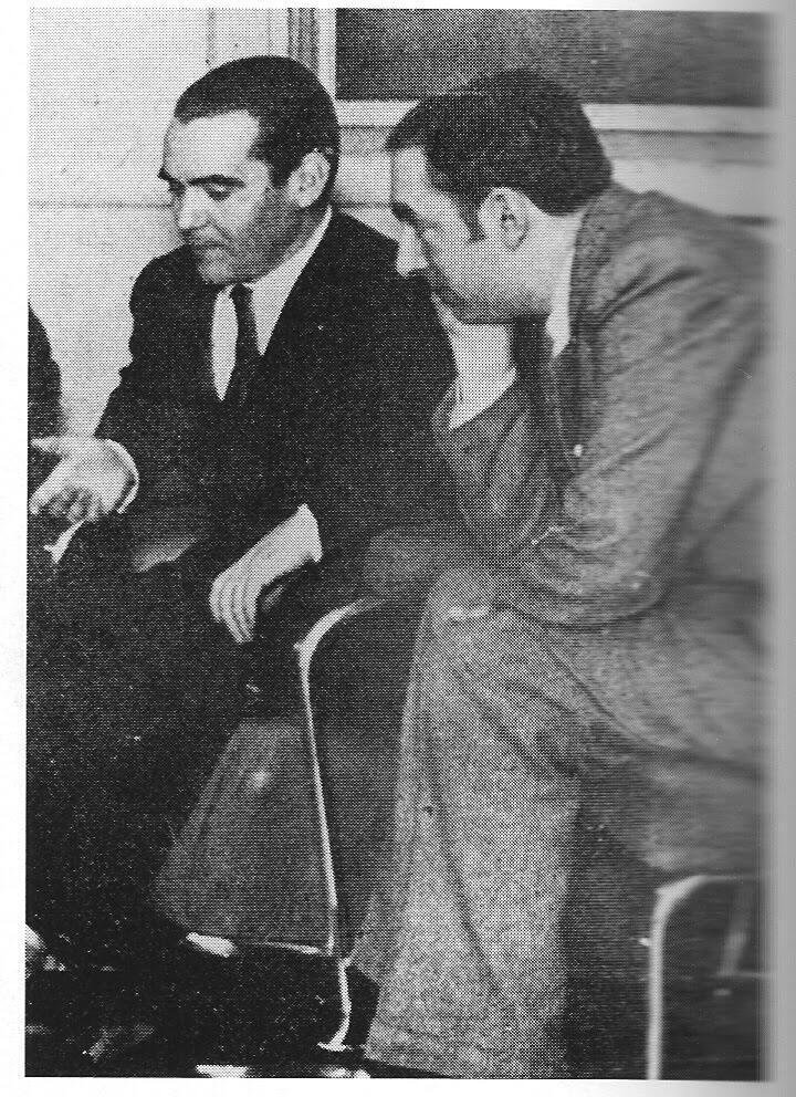 García Lorca e Neruda em Buenos Aires em 1933
