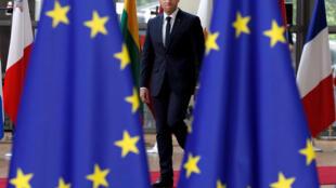 Эмманюэль Макрон прибыл на европейский саммит в Брюсселе, 22 июня 2017 г.