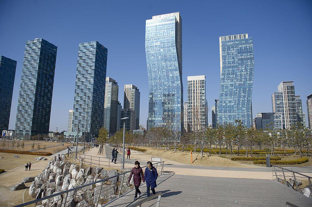 """""""Thành phố thông minh"""" Songdo, gần thủ đô Séoul."""