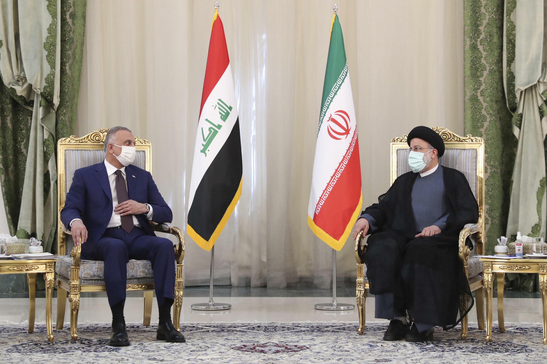 دیدار ابراهیم رئیسی و مصطفی الکاظمی در تهران