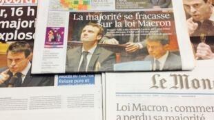 Primeiras páginas dos diários franceses de 18/02/2014