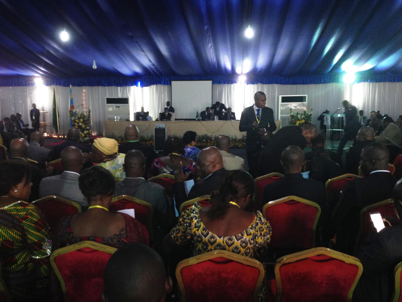 Salle de conférence de la cité de l'OUA où se tient le dialogue national en RDC.