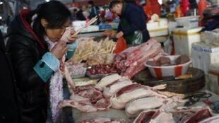 La Chine a augmenté de 5% sa consommation de bœuf. (Photo: un marché à Jiaxing, en Chine).
