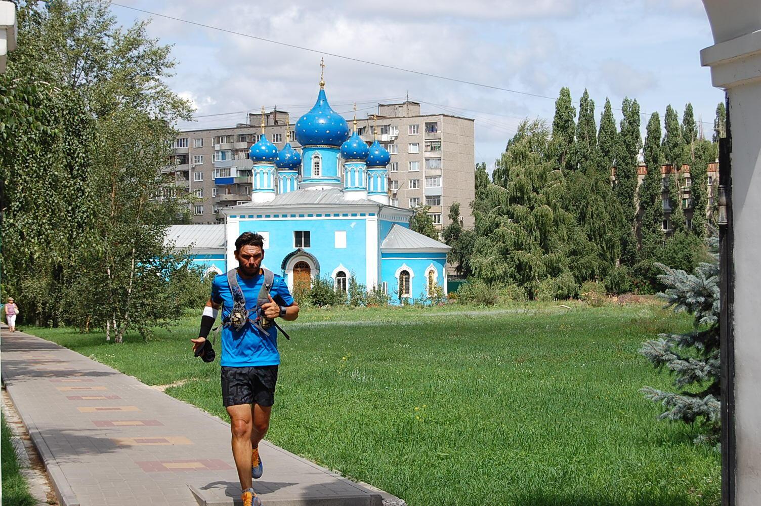 French Marathon runner Christophe Vissant in Tcheliabinsk, Russia, 2013.