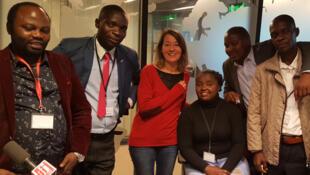 Thomas  Mbussa (Kampala), Gilbert Niyongabiré (Bujumbura), Cécile Bonici (réalisatrice), Nicole Bahati (Bukavu), Zacharie Bashwira (Goma), Stanislas Woanga Kamengele (Uvira), Alain Bashizi (Bukavu).
