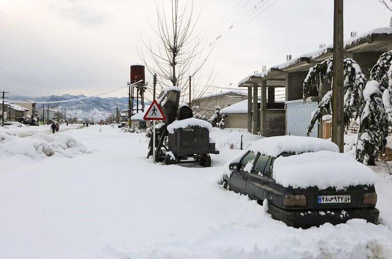 بارش برف سنگین در استان گیلان