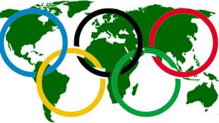 圖為奧林匹克運動五環象徵