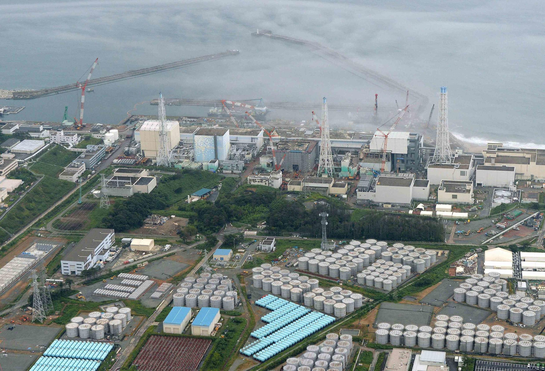 Ảnh chụp từ trên không nhà máy điện hạt nhân  Fukushima, ngày 20/08/ 2013.