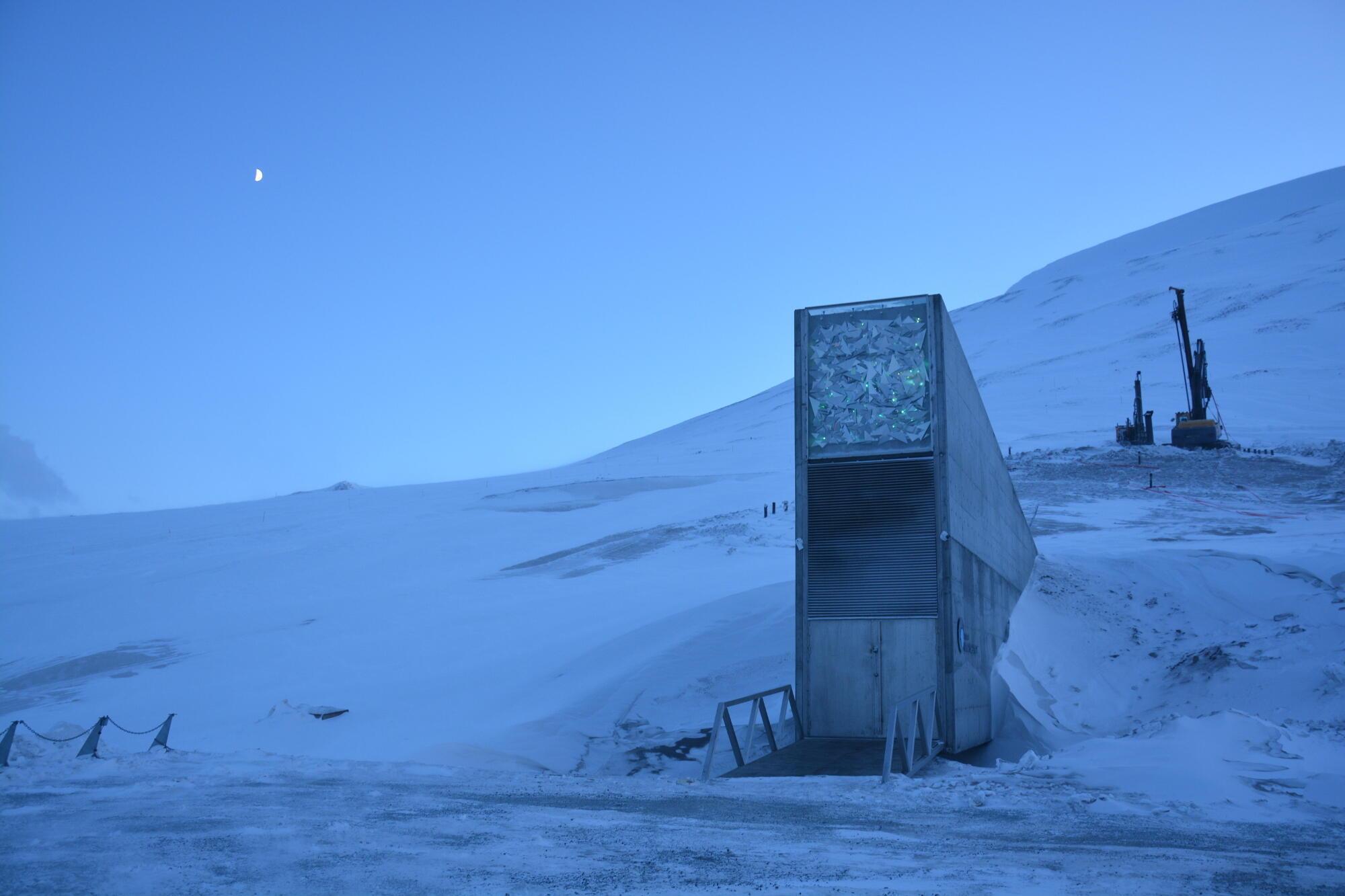 La Reserva mundial de semillas, en el archipiélago de Svalbard, queda a sólo 1100 km del Polo Norte.