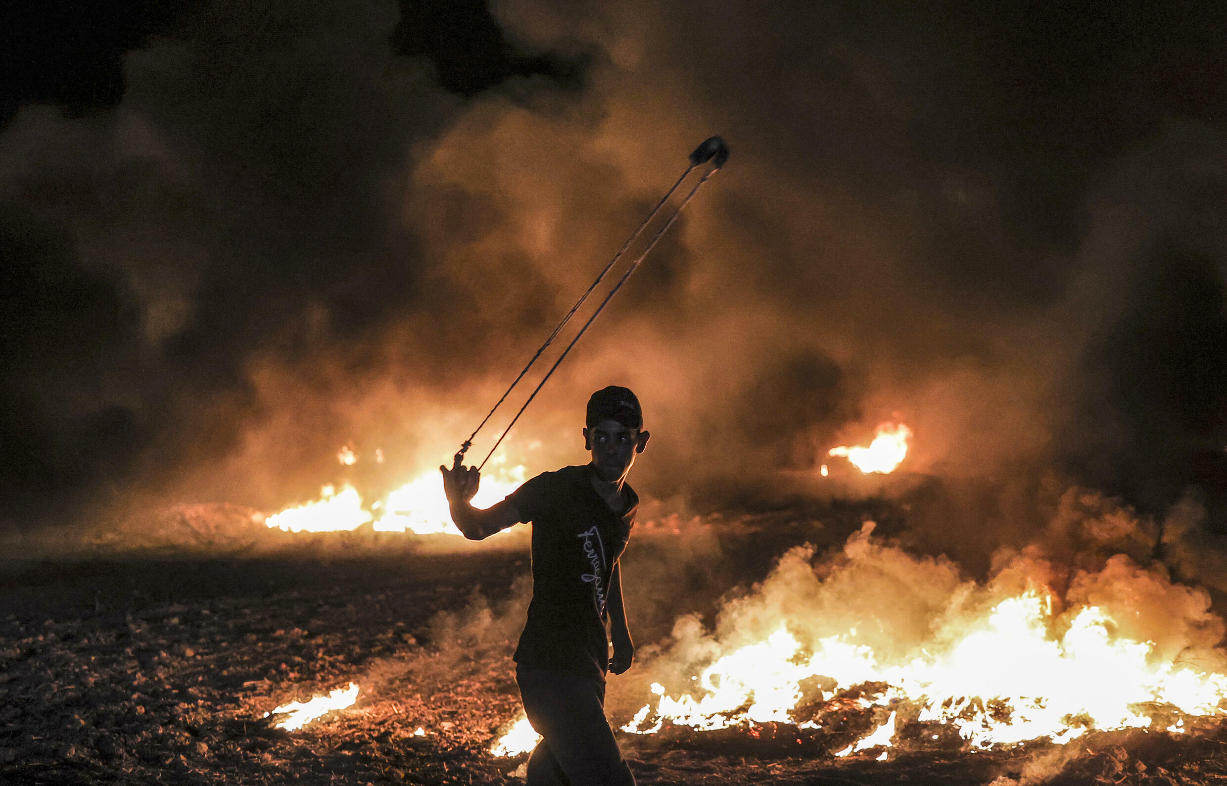 Israel blamed Hamas for violent riots on the border with Gaza on Saturday
