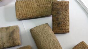 Des antiquités irakiennes volées et retrouvées par les douanes libanaises en 2008 (images d'illustration).
