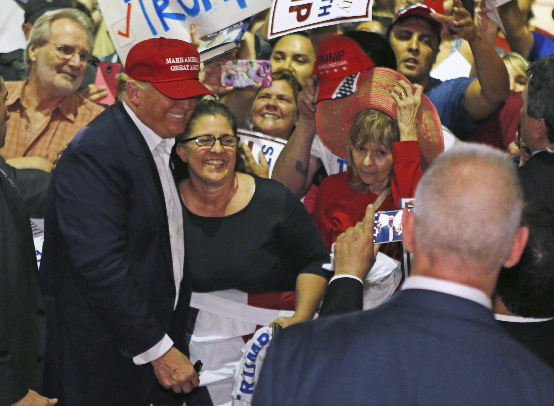 Le candidat Donald trump en campagne à Boca Raton, dans le comté de Palm Beach, en Floride, le 13 mars 2016.