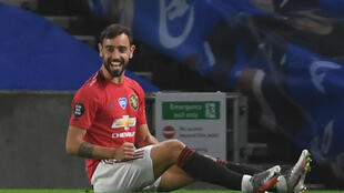 Manchester United midfielder Bruno Fernandes scored twice at Brighton
