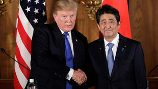 Donald Trump junto a al primer ministro japonés, Shinzo Abe, el 6 de noviembre de 2017 en Tokio.