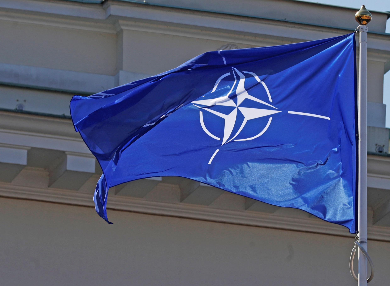 پرچم سازمان پیمان آتلانتیک شمالی یا ناتو