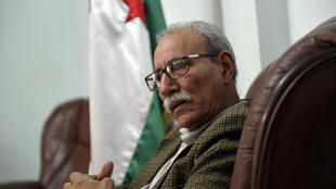 Brahim Ghali, Polisario secretary general and president of the self-proclaimed Sahrawi Arabic Democratic Republic, speaks during an interview with AFP at his office in a Sahrawi refugee camp in the Algerian city of Tindouf, on February 3, 2017.