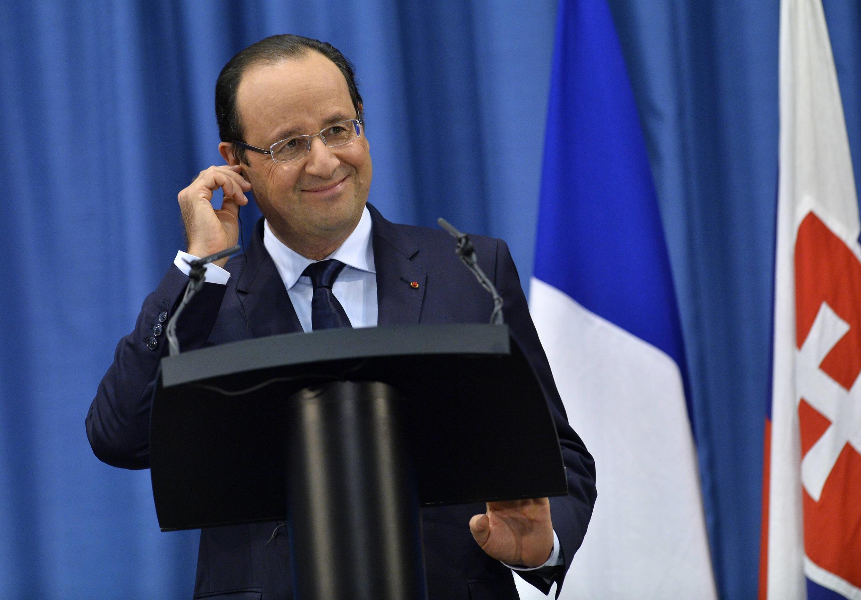 C'est de Brastislava, en Slovaquie, où il était en visite officielle que François Hollande a annoncé la libération des quatre otages d'Arlit, après plus trois années de détention, le 29 octobre 2013.