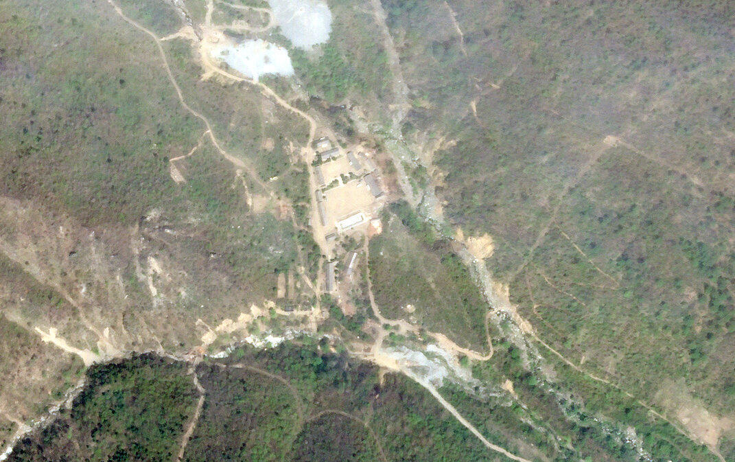 Image satellite du site de test nucléaire de Punggye-Ri en Corée du Nord.
