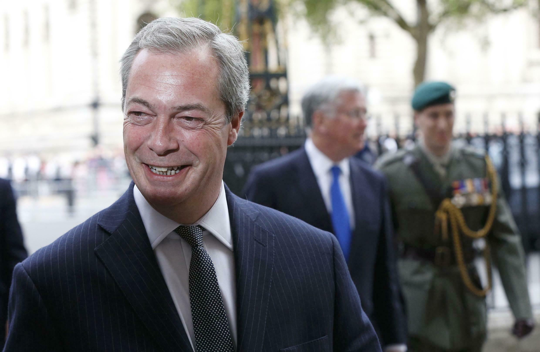 Aliyekuwa kiongozi wa chama cha UKIP nchini Uingereza, Nigel Farage.