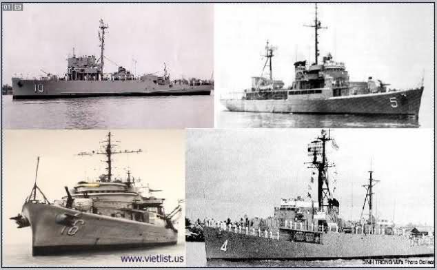 Bốn trong số các chiến hạm của Hải Quân Việt Nam Cộng Hòa đã tham gia hải chiến Hoàng Sa 1974.