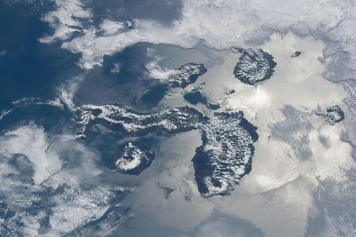 美國太空總署宇航員里奇·阿諾德(Ricky Arnold)從地球上方200英里上方拍攝的加拉巴哥群島
