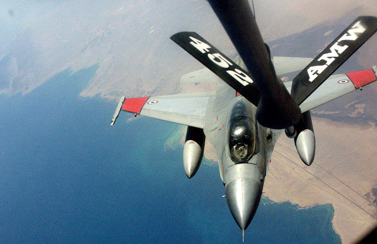 Chasseur F-16 de l'armée de l'air égyptienne.