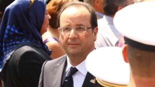 François Hollande durante las celebraciones del 14 de julio, antes de la entrevista en el Palacio del Elíseo