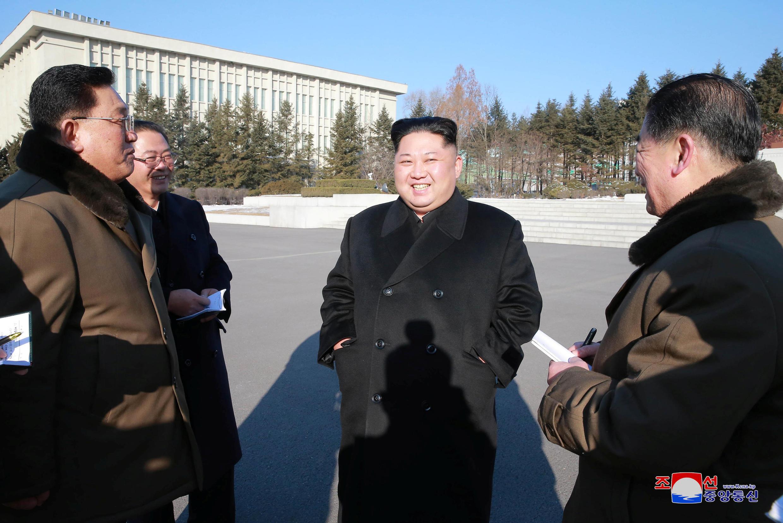 Ảnh minh họa : Lãnh đạo Bắc Triều Tiên Kim Jong Un thật sự muốn hòa giải ? Ảnh chụp tại Bình Nhưỡng ngày 12/01/2018.