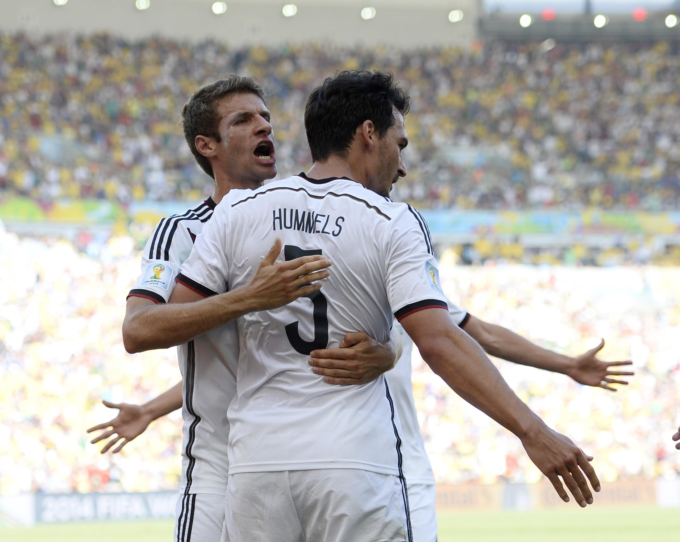 Mats Hummels (right) and Thomas Müller featured in Germany's 2014 World Cup winning team. They were told in March 2019 they would not feature again in the national team but have been recalled for next month's European championships.